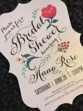 20 Floral Bridal Shower Invitations with Envelopes
