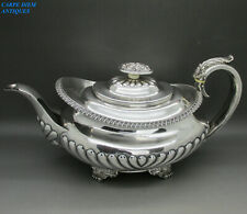 ANTIQUE GEORGIAN GOOD HEAVY SOLID STERLING SILVER TEAPOT 697g R.P LONDON 1825