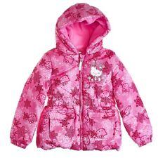 Hello Kitty Girls Pink Snowflake Fleece Hooded Winter Puffer Jacket Coat 5T 5 6