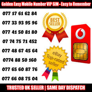Gold Easy Mobile Number VIP SIM - Easy to Remember & Memorise Numbers LOT