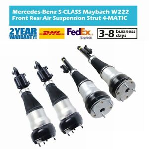 4x Front + Rear Suspension Shock Struts Fit Mercedes W222 Maybach 4-Matic 2015-
