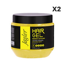 2x Jagler Extra Strong Hold Hair Gel 500ml, Hair Styling, Grooming, Barbers