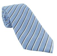 Haddon & Burley Light Blue Stripe Silk & Cotton Tie