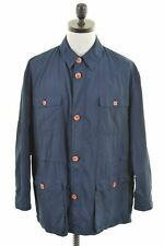 ETRO Mens Overjacket IT 50 Large Navy Blue Polyester  AH07