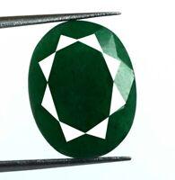 11 Ct + émeraude verte brésilienne, pierres précieuses naturelles, taille ovale