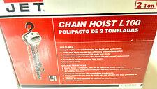 Jet L100 2 Ton 10-Feet Lift Chain Hoist 102210