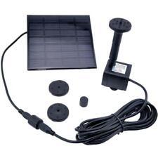 Solar Water Pump Power Panel Kit Fountain Pool Garden Pond Submersible Black FZ