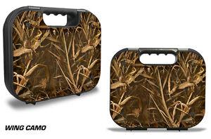 Skin Decal Wrap for Glock 18 19 21 22 43 9mm 45 Pistol Gun Hard Case WING CAMO
