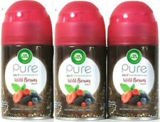 (3 Pack) Air Wick Pure Freshmatic Automatic Spray Refill, Wild Berries 5.89 oz
