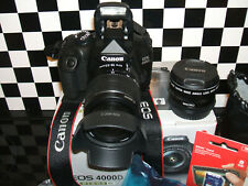 Canon EOS 4000D 18 MP Digital SLR Camera Kit with THREE LENSES Black