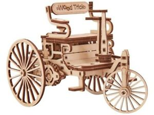Wood Trick Mechanical 3D Puzzle. The First Car