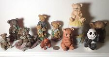 lot 5 Sarah's Attic Limited Edition Bears and 5 other Bear Figurines Koala Panda