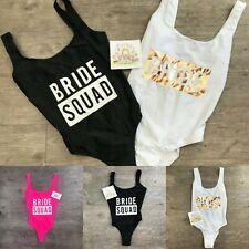 BRIDE / BRIDE SQUAD Swimsuit Ladies Primark Womens Swimming Costume Hen Party