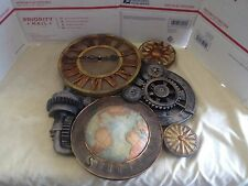 Toscano Gears of Time Sculptural Wall Clock - art industrial abstract steampunk