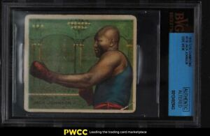 1910 T218 Champions Jack Johnson SIDE VIEW #118 BVG Altered