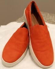 Vince Blair Leather Sneakers Tomato Orange US 9 NIB