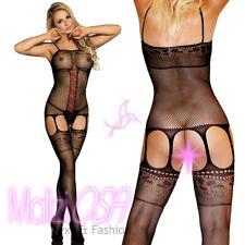 Bodystocking rete aperto sexy catsuit body donna hot lingerie completo intimo