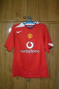 Manchester United FC Nike Football Shirt Home 2004/2005/2006 Jersey Men Size S?