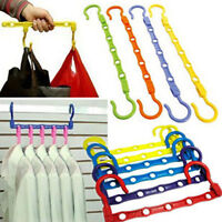 2X Clothes Hanger Rack Portable Plastic Clothing Hook Flexible Closet Organizer