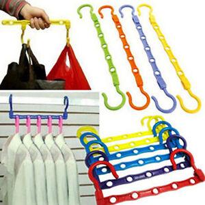 2X Multi-Function Space Saver Wonder Magic Clothes Hanger Closet Organizer Hook