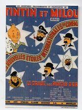 Carte Postale Tintin. Affiche du film Le crabe aux pinces d'or - 2016