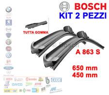 KIT 2PZ SPAZZOLE TERGICRISTALLO GOMMA BOSCH 3397007863 AUDI A3 VW GOLF 7 PASSAT