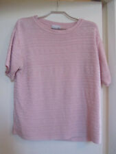 Light Pink Geo Knit Short Sleeve Jumper in Size 16
