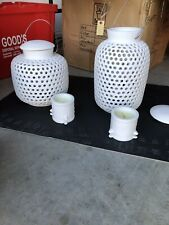 POLS POTTEN  LANTERNS   FOUR   WHITE   PORCELAIN