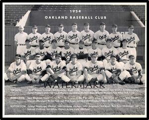 PCL 1954 Oakland Oaks Baseball Team Pic Black & White 8 X 10 Photo Picture