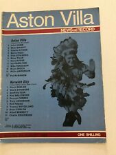 09/08/1969 Aston Villa v Norwich City