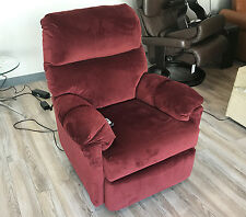 Best Furniture Balmore Small Power Recliner Chair 2NW64 - Red Fabric 22148