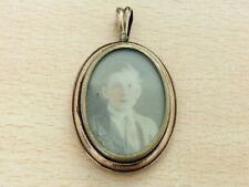 ANTIQUE ROLLED DOUBLE PHOTO LOCKET PENDANT 1900