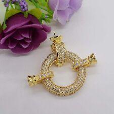 one pcs cirque  shape  jewellery pearl necklace clasp hook wholesale 3colors