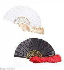 Éventails et ombrelles rouge pour déguisement et costume