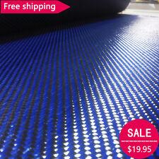 Carbon fiber & Blue kevla 70cm wide mixed fabric Carbon Aramid cloth 200gsm