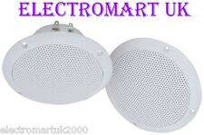 "WATERPROOF FULL RANGE CEILING SPEAKERS 5"" 80W"