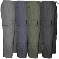 Mens Cargo Combat Trousers Zip Pockets Jogging Jogg Bottoms Sport WorkWear Treck