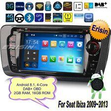 Android 8.1 Seat Ibiza Autoradio 2009-2013 CD DAB+OBD Navigatore TV BT TPMS 3822
