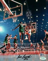Bill Russell Signed Autographed 8X10 Photo Celtics in Air vs Lakers Beckett COA