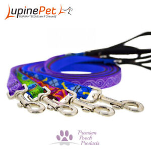 Lupine Dog Lead 19mm x 1.2m (4ft) MEDIUM, Claw or Trigger Clip - Asst patterns