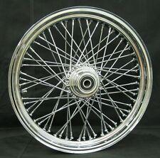 """Ultima Billet 60 Spoke 18"""" x 3.50"""" Front Single Disc Wheel Harley Softail Dyna"""