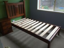 Single Bed Frame (Solid Wood) and Bedside 3 draw
