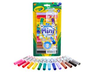 Crayola 14 Washable Pip-Squeaks Mini Markers Felt Tip Pens Kids Art Crafts