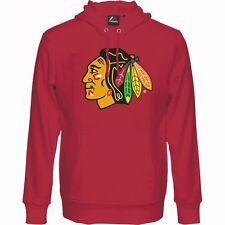 NHL Kaputzenpullover Hoody Hooded Sweater CHICAGO BLACKHAWKS rot Logo Majestic
