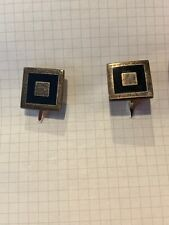 Pair Of Abstract Silver/Black Cufflinks Made In Mexico (TD)