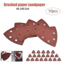 10xDelta Schleifdreiecke Dreieck Schleifpapier Deltaschleifer 90x 90x 90mm Klett