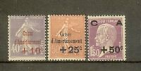 """FRANCE STAMP TIMBRE N° 249/51 """" CAISSE AMORTISSEMENT 2eme SERIE 1928"""" NEUF xx TB"""