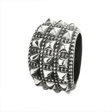 Perlina SPINE rebeligion ARGENTO per cinturino in pelle nero ROCK MEDIUM