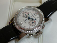 GIRARD PERREGAUX LADIES STAINLESS CHRONOGRAPH W/ DIAMOND BEZEL REF: 8046 W/ B&P