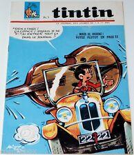 Le journal de TINTIN n° 947 de 1966 Chick Bill magazine bd revue les avions be